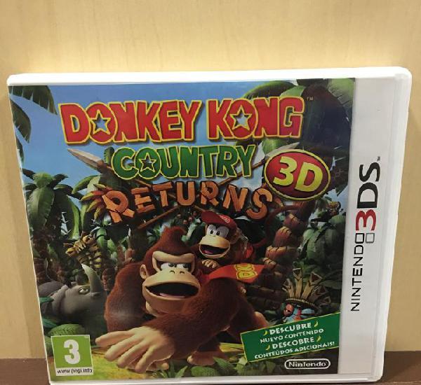 Donkey kong country returns - 3ds (2ª mano - bueno)