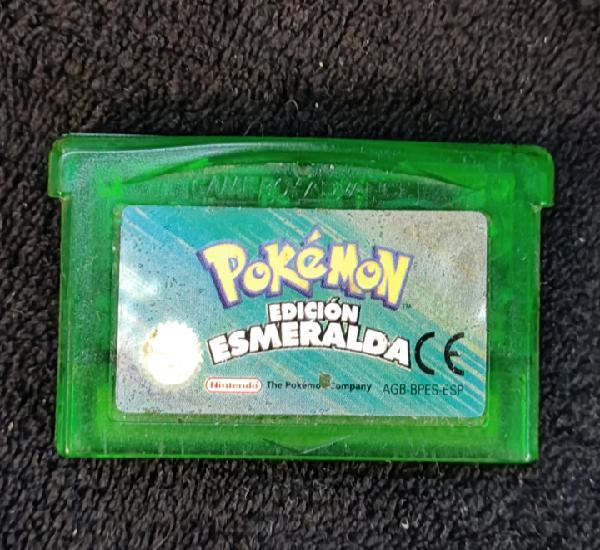 Pokemon edición esmeralda, game boy advance. funciona