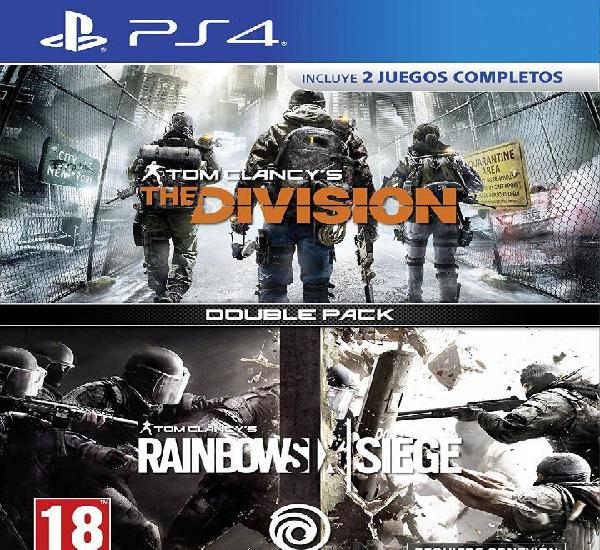 Rainbow six + the division double pack - ps4