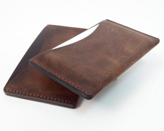 Cardwork cuero funda de tarjeta de visita, funda de cuero