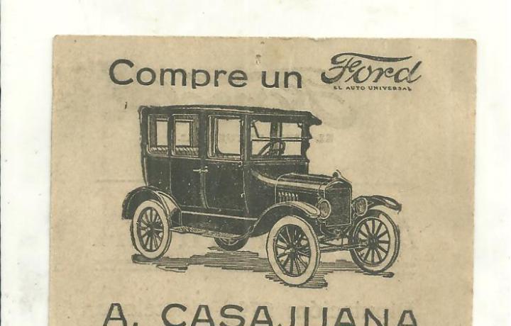 Ford - publicidad ford el auto universal-agente oficial