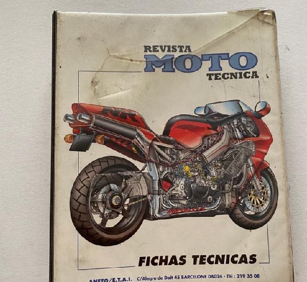 Fichas técnicas revista moto técnica completo carpeta de