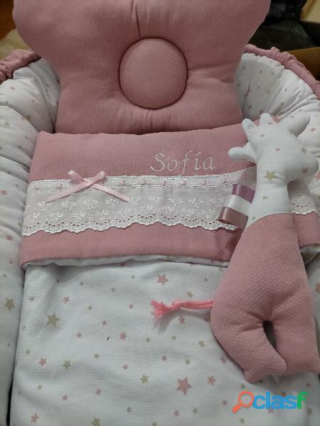 Cuco nido colecho, revercible artesanal personalizado para el descanso de tu bebé 1