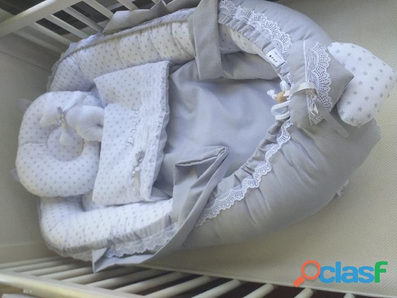 Cuco nido colecho, revercible artesanal personalizado para el descanso de tu bebé 5