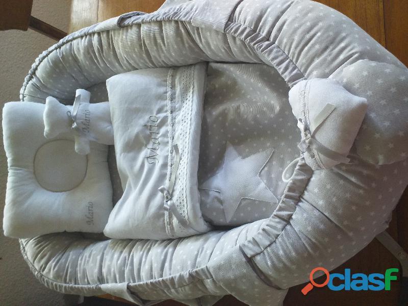 Cuco nido colecho, revercible artesanal personalizado para el descanso de tu bebé 6