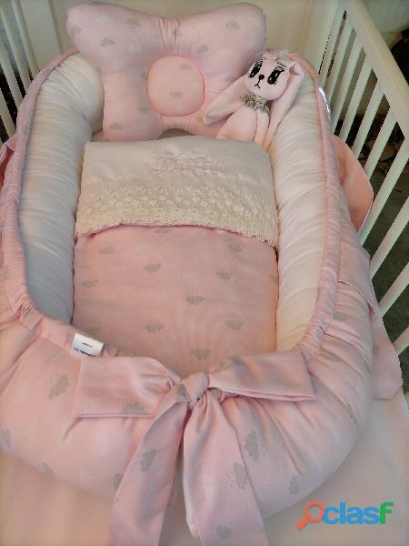 Cuco nido colecho, revercible artesanal personalizado para el descanso de tu bebé 8