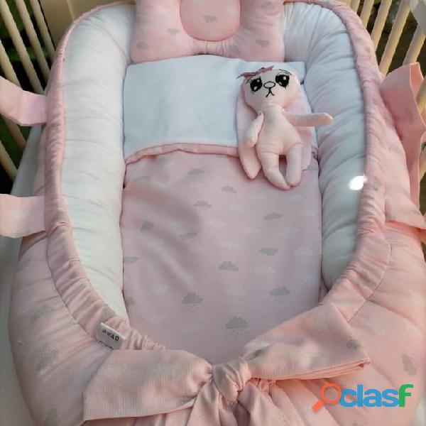 Cuco nido colecho, revercible artesanal personalizado para el descanso de tu bebé 9