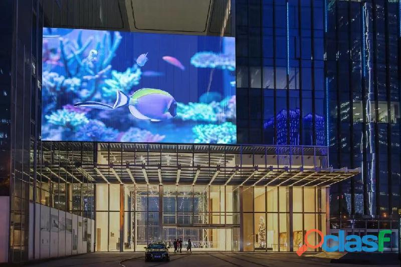 Pantallas LED de transparente para fachadas de vidrio y escaparates de tiendas