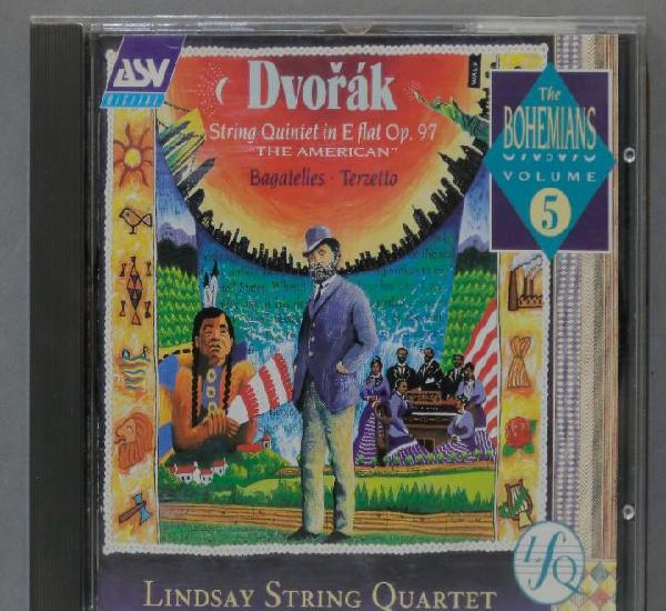 """Cd. string quintet in e flat op.97 """"the american""""."""