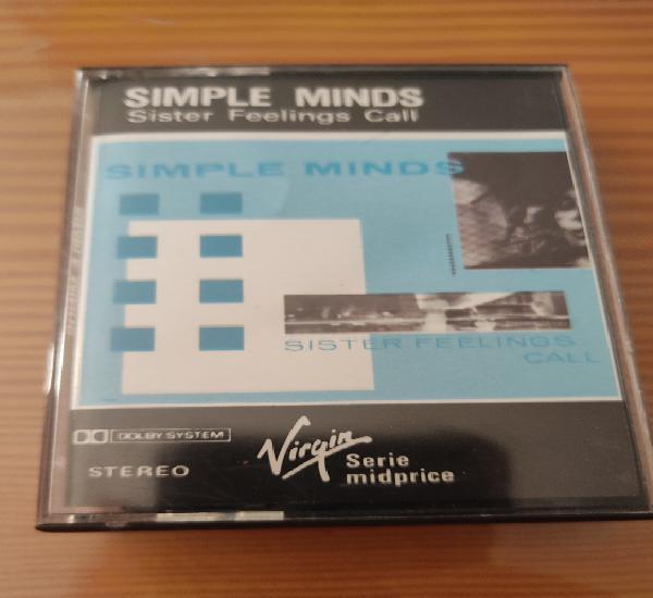"Cassette de simple minds"" sister feelings call"", primera"