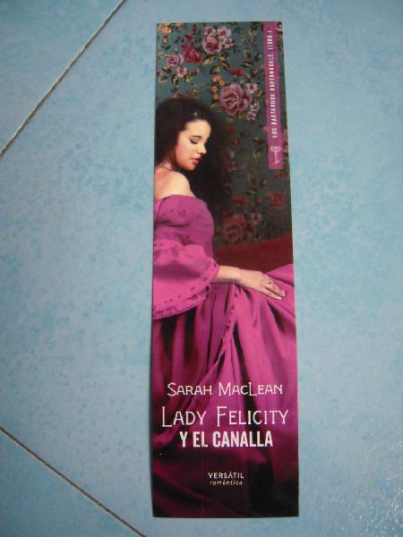 MARCAPáGINAS LADY FELICITY Y EL CANALLA
