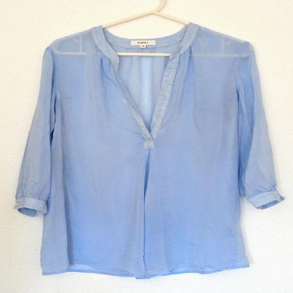 Sky blue, light blue blouse long sleeves