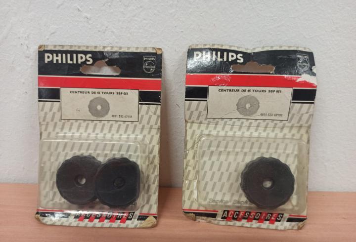 Adaptador centrador de disco vinillo 45 rpm bister de 2