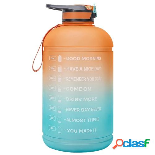 1 gallon water bottle with time marker bpa free 3.78l sports bottle with straw for office gym fitness sports camping cycling