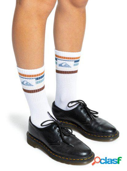 Quiksilver - the stripes - calcetines para mujer - blanco - quiksilver