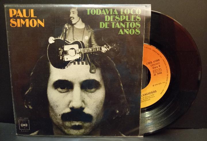 Paul simon todavia loco despues de tan.. single spain 1976