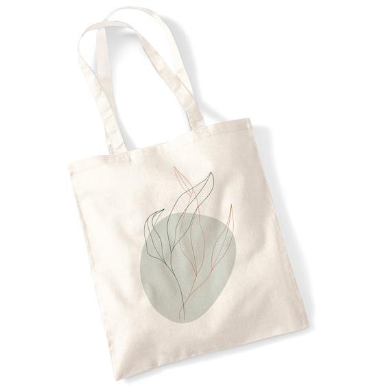Plantas abstractas tote bag selección - hojas plantas