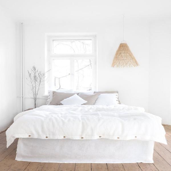 White linen bedding | linen duvet cover