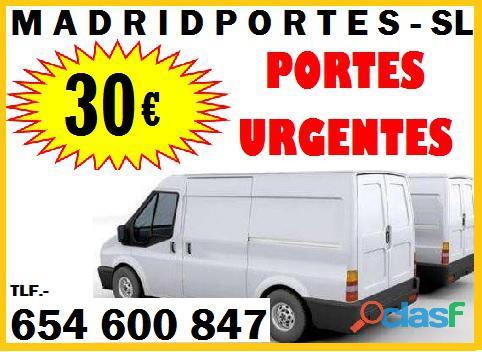MUDANZAS DESDE 125€   PORTES DESDE 30€ MADRID
