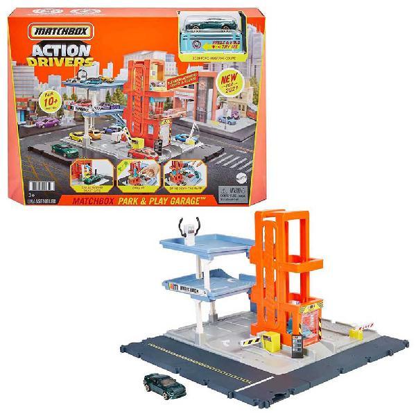 Matchbox garaje para coches de juguete con sonidos almacena