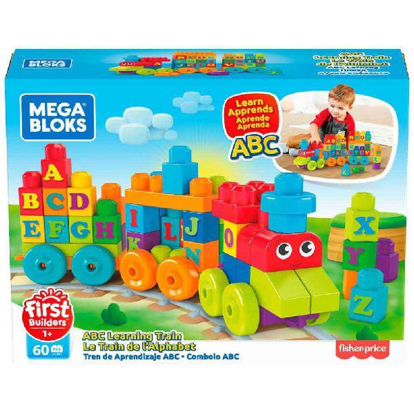 Mega bloks tren de aprendizaje abc jueguete de construcción
