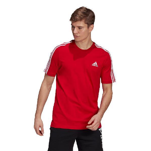 Adidas camiseta manga corta essentials 3 stripes