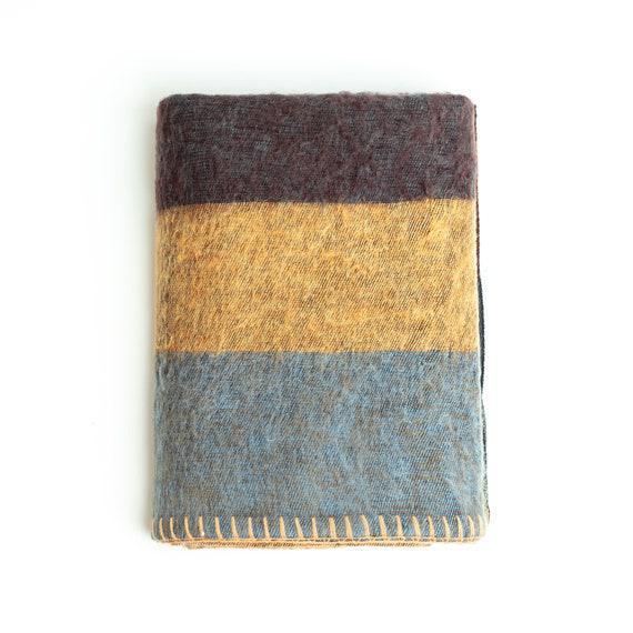 Manta de lana / extra soft yak wool knitted blanket / throw