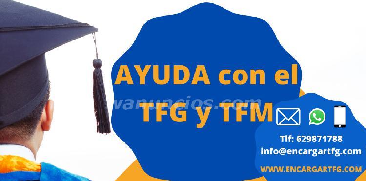 Te ayudamos con el tfg y tfm. pide presupuesto