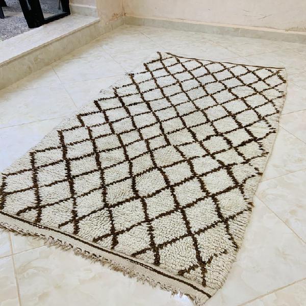 Vintage moroccan rug, authentic morocco rug, brown moroccan