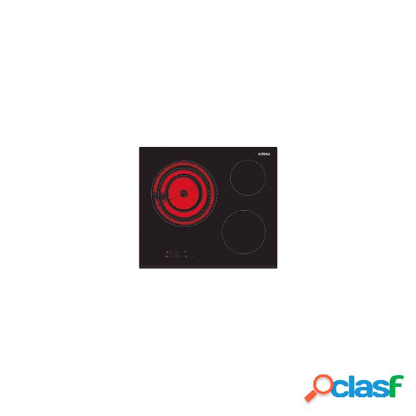 Placa vitrocerámica - edesa evt6328b 3 zonas 60 cm negro biselado