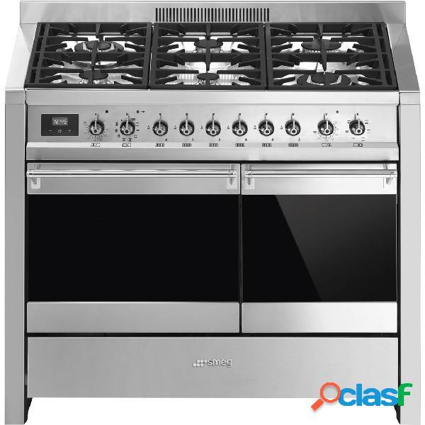 Cocina gas - smeg a2py-81 eficiencia a 100 cm 6 fuegos acero inoxidable