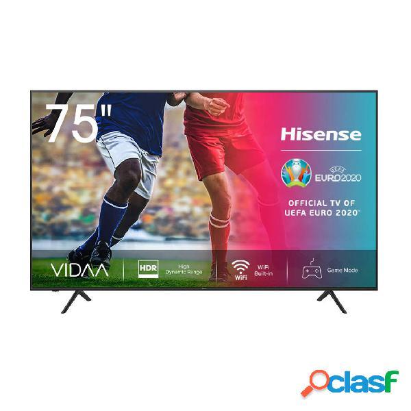 Tv led - hisense 75a7100f 75 pulgadas 4k uhd hdr10+ eficiencia a negro