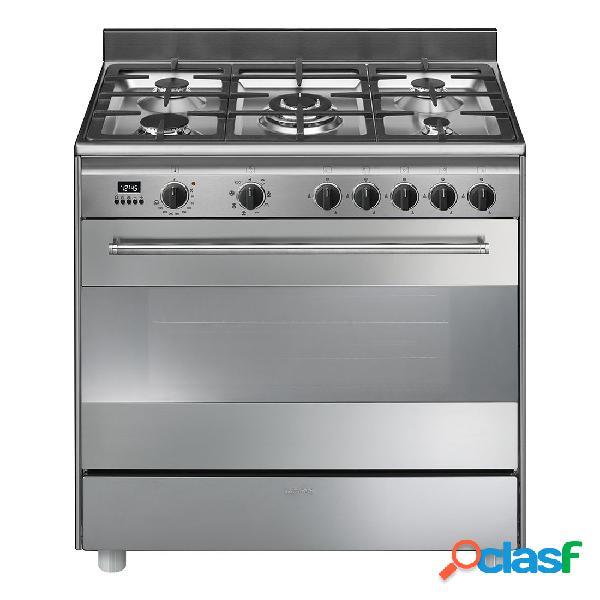 Cocina gas - smeg bg91x9-1 eficiencia a 80 cm 4 fuegos acero inoxidable