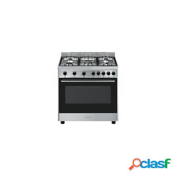 Cocina gas - smeg b901gmxi9 eficiencia a 90 cm 5 fuegos acero inoxidable