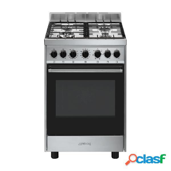 Cocina gas - smeg b601gmxi9 60 cm 4 fuegos inox