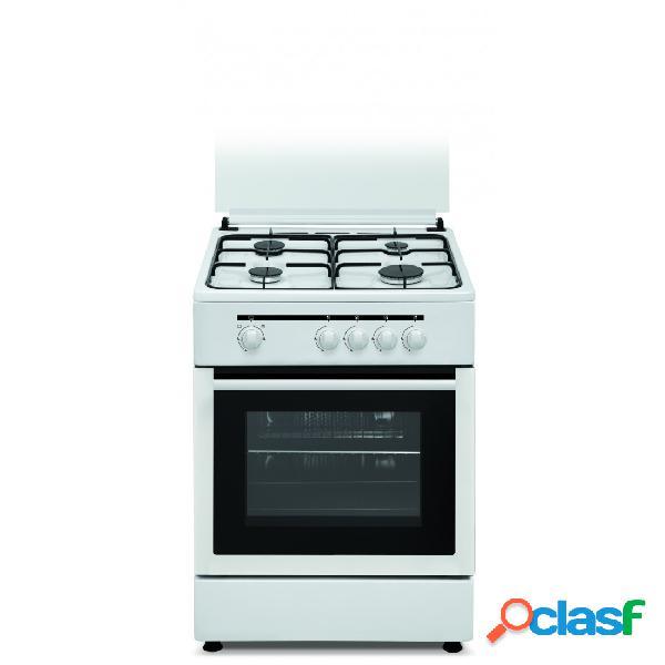 Cocina gas - vitrokitchen cb60bb 60 cm 4 fuegos blanco
