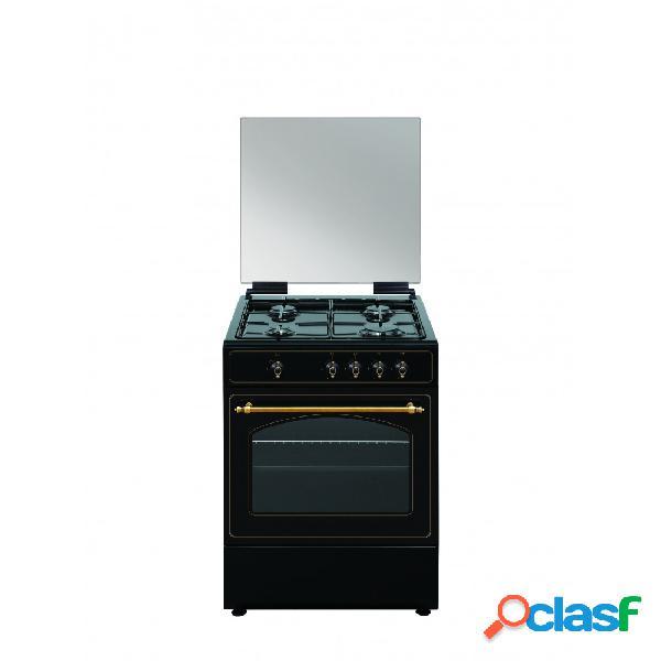 Cocina gas - vitrokitchen ru6060n 60 cm 4 fuegos negro