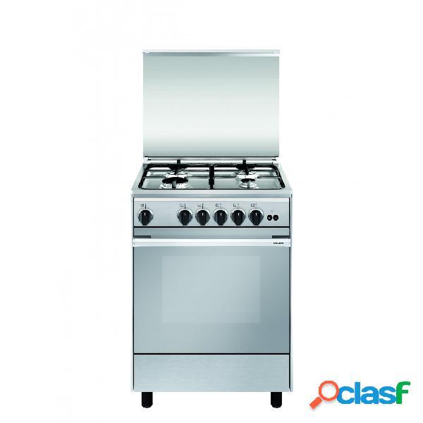 Cocina gas - vitrokitchen un6050in 60 cm 4 fuegos acero inoxidable