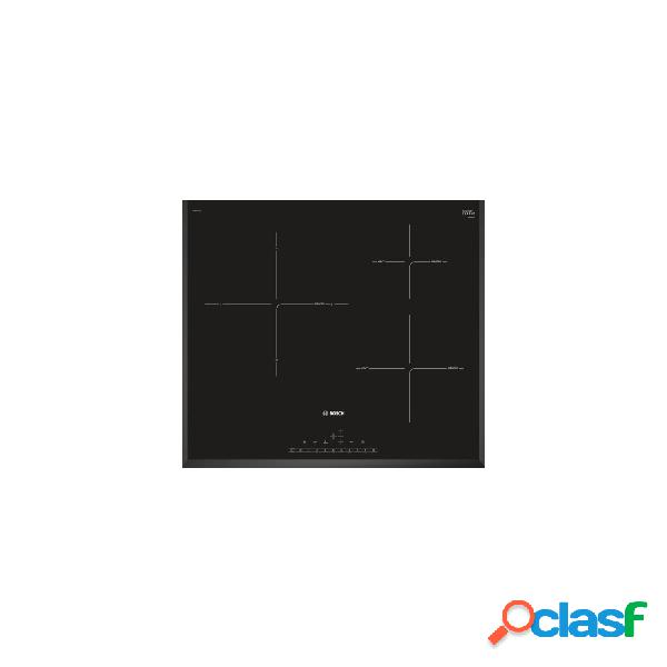 Placa inducción - bosch pij651fc1e 3 zonas 60 cm negro biselado