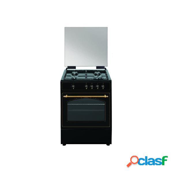 Cocina gas - vitrokitchen ru6060b 60 cm 4 fuegos negro