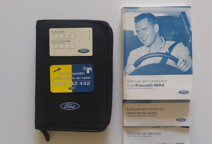 Manual coche ford focus c-max. manual de uso, mantenimiento