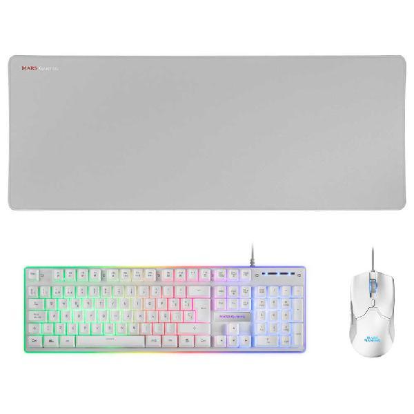 Mars gaming raton y teclado gaming mcpx+alfombrilla ratón