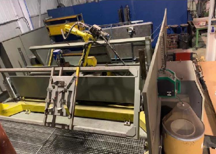 Robot de soldadura fanuc arcmate 100 lb maquinas de segunda