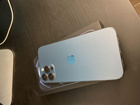 Iphone 12 pro max 128gb azul pacifico garantia apple 1 año