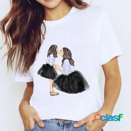 Camisetas femeninas mujer chica manga corta mama mamá amor ropa imprimir camiseta gráfica señoras camisetas femeninas