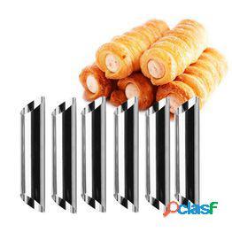 Acero inoxidable danés tubo pan herramientas para hornear croissants molde