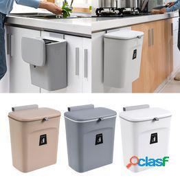 Gabinete de cocina puerta colgante contenedor de basura bote de basura cesta de basura montada en la pared 9l bote de basura de cocina tapa contenedor de basura de basura grande