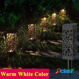 1/2pcs luces solares impermeables para jardín led, lámpara de trayectoria de césped para exteriores, patio y lámpara de jardín de césped
