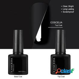 8ml top coat base gel nail gel primer nail basecoat gel lacquer nail art accesorios set
