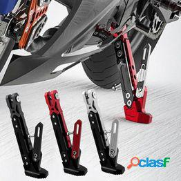 Soporte antideslizante lateral ajustable del lado ajustable de los pies del estacionamiento de la motocicleta universal